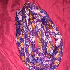 Sparkle purple floral scarf